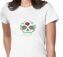 love and laugh sugar skull Womens Fitted T-Shirt