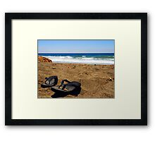 The Sand Between My Toes Framed Print
