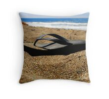 Flipfloppin' Throw Pillow
