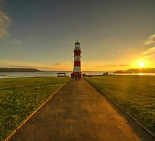 Smeaton's Tower Sunset  by Rob Hawkins