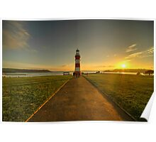 Smeaton's Tower Sunset  Poster