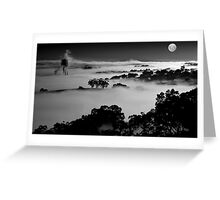 Misted Moonrise Greeting Card