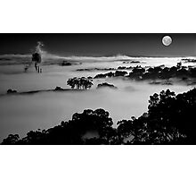 Misted Moonrise Photographic Print