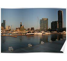 Docklands at Sunset - Melbourne Poster
