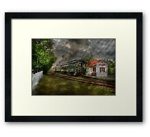 The Train Station Framed Print
