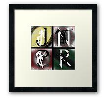 JNPR 4 Way Combo Characters Framed Print