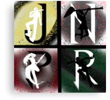 JNPR 4 Way Combo Characters Canvas Print