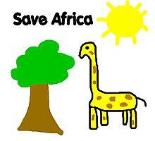 Save the Giraffes Photographic Print