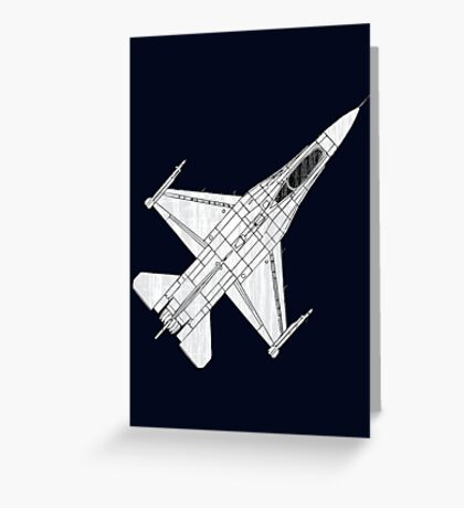 F16 Fighter Aircraft Greeting Card