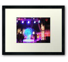 the cube man1 Framed Print