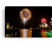 Sydney Australia 2008 New Years Eve Fireworks Canvas Print