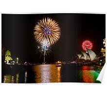 Sydney Australia 2008 New Years Eve Fireworks Poster