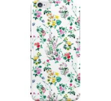 Roses, Moth Orchids, Lilies - Green Pink Blue  iPhone Case/Skin