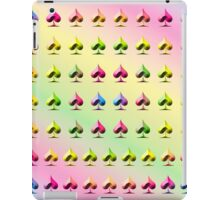 Rainbow Embossed Aces Abstract One iPad Case/Skin