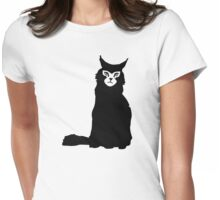 Maine coon cat Womens Fitted T-Shirt