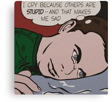 Sad Sheldon Canvas Print