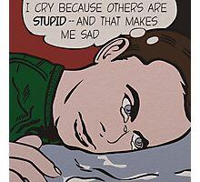 Sad Sheldon Photographic Print