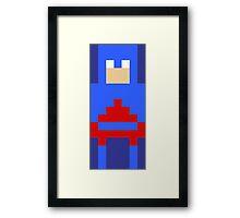8-Bit Atom Framed Print