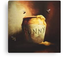 Pooh's Painting Canvas Print