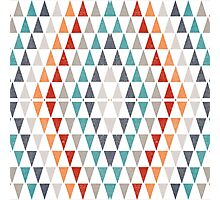Triangles pattern Photographic Print