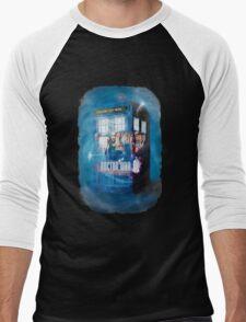 Blue Box Painting tee T-shirt / Hoodie Men's Baseball ¾ T-Shirt