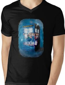 Blue Box Painting tee T-shirt / Hoodie Mens V-Neck T-Shirt