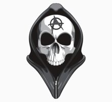 Anarchy Skull Wearing Hoodie by dxf1969