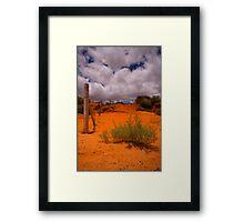 The Dunes of Monkey Mia Framed Print