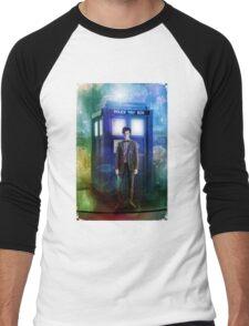 Color full T-Shirt Flue Box T Shirt Tee Men's Baseball ¾ T-Shirt