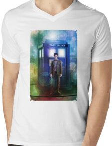 Color full T-Shirt Flue Box T Shirt Tee Mens V-Neck T-Shirt