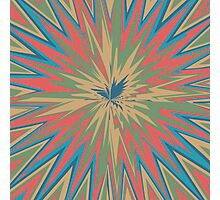 Retro star abstract design Photographic Print