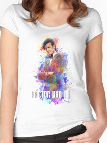 Dr. Who Tee Steampunk Character T-Shirt / Hoodie Women's Fitted Scoop T-Shirt