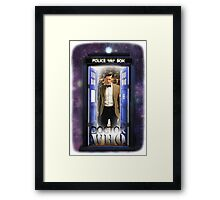 Ninth Doctor Blue Box T-Shirt / Hoodie Framed Print
