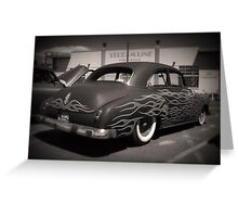 50s and Flames Greeting Card