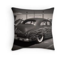 50s and Flames Throw Pillow