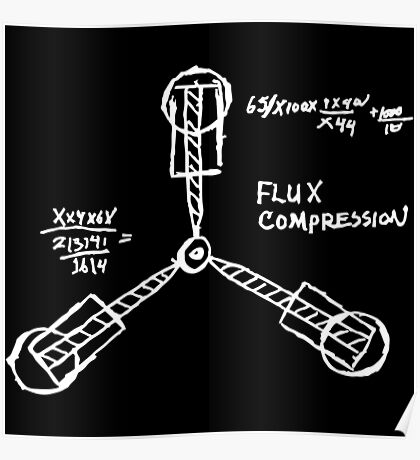 Flux capacitor / Back to the futur ( BTTF ) Poster