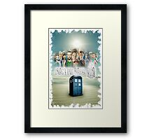 Blue Box Cover Tardis T-Shirt ? Hoodie Framed Print