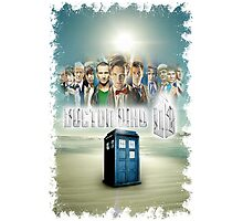 Blue Box Cover Tardis T-Shirt ? Hoodie Photographic Print