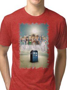 Blue Box Cover Tardis T-Shirt ? Hoodie Tri-blend T-Shirt
