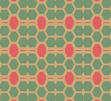 Honeycomb abstract pattern by lalylaura