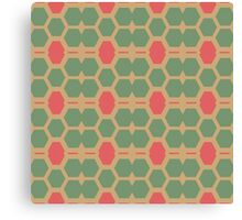 Honeycomb abstract pattern Canvas Print