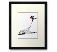 Underground Man Escapes Framed Print