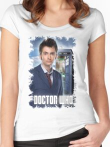Nerdy Dr Who T-Shirt / Hoodie Women's Fitted Scoop T-Shirt