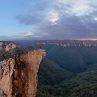"""Hanging rock"" hundreds of meters high. by STEPHEN GEORGIOU"