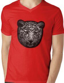 Leopard Cub Mens V-Neck T-Shirt