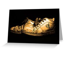 Dirty Shoes Greeting Card