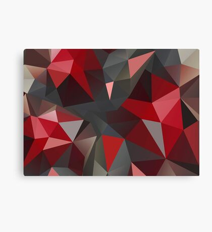 Abstract red and gray triangles Canvas Print