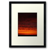 Fire from the Sky Framed Print