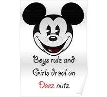Boys Rule Poster