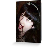 She's A Vamp Greeting Card